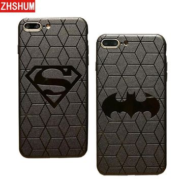 Batman Dark Knight gift Christmas 3D Touch Case For IPhone X 8 7 Plus 6S XS MAX XR Soft Silicone Relief Case For IPhone 7 6 S Plus X R Back Cover Superman Batman AT_71_6