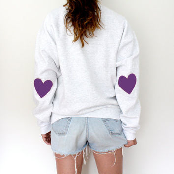 Elbow Heart Sweatshirt - Purple