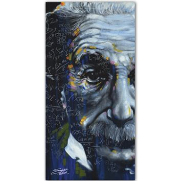 Stephen Fishwick Einstein Printed Canvas Wall Art