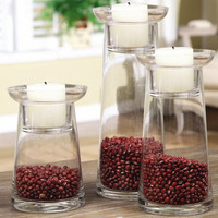 Glass Fillable Tealight Holder?::?Candle Hurricanes?::?Candle Holders and Accessories?::?Home Accessories?::?Elizabeth's Embellishments