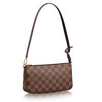 Louis Vuitton Damier Ebene Canvas Shoulder Bag Clutch Handbag Pochette Accessoreis NM Article: N41206