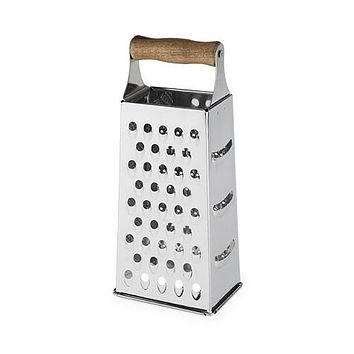 Rustic Farmhouse Acacia Wood Handled Cheese Grater