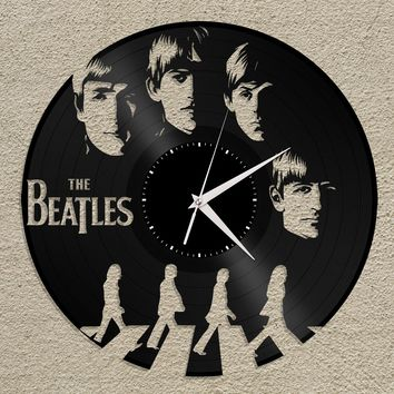 Vinyl Clocks, Beatles Clock, Wall Clock The Beatles, Abbey Road, Beatles Wall Decor, Beatles Art, Music Lover Gift, Gift For Him Under 50