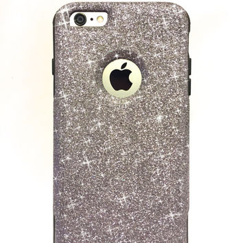 iPhone 6 Plus Custom Glitter Otterbox Commuter Cute Case,  Custom  Glitter Graphite / Black Otterbox Color Cover for iPhone 6
