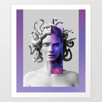 Medusa Art Print by linco7n