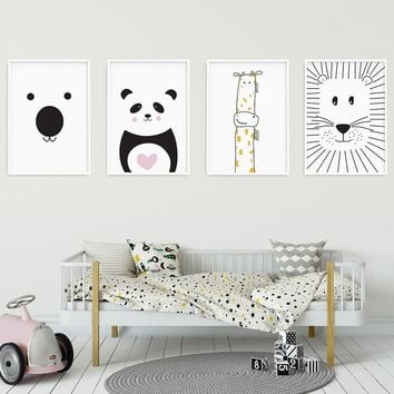 Nordic Style Kids Decoration Posters and Prints Boys Room Pictures Poster Wall Picture for Living Room Wall Art Canvas Prints