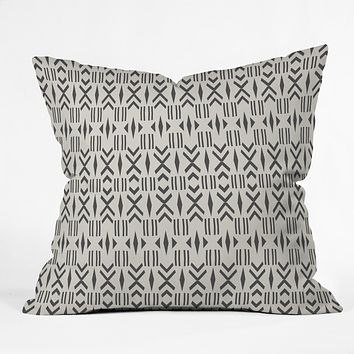 Holli Zollinger Geo Mudcloth Throw Pillow