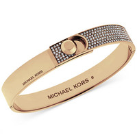 Michael Kors Pavé Foldover Bracelet - Jewelry & Watches - Macy's