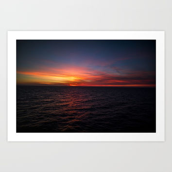 Endless sea Art Print by ArtEscape