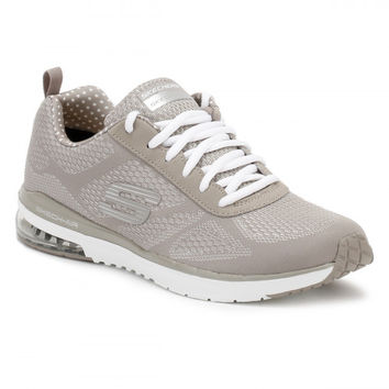 Skechers Womens Taupe Skech-Air Infinity Trainers