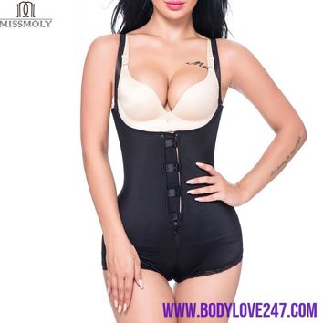 MISS MOLY Women Latex Waist Trainer Cincher Girdle Slimming Zipper Full Body Shaper Tummy Waist Control Bodysuit Shapewear