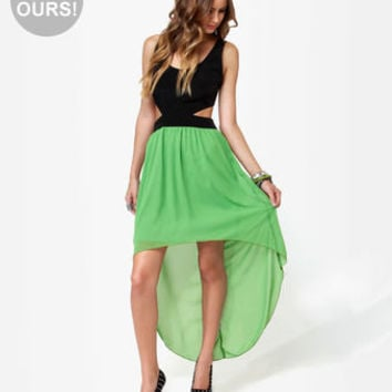 Cute Green Dress - High Low Dress - Sleeveless Dress - $44.50