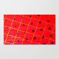 Canvas print, red canvas print, red painting, yellow  art, Pattern canvas, abstract canvas, Home décor, wall art,wall hanging,wall art décor