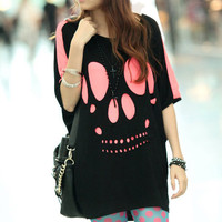 A 082103 Personalized short-sleeved T-shirt Skull827