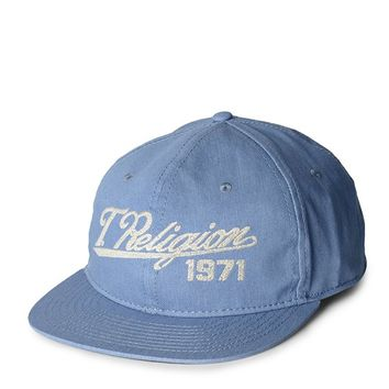 True Religion Denim Mens Baseball Cap - Denim