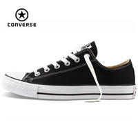 Original Converse all star canvas shoes men's sneakers for men low classic Skateboarding Shoes black color