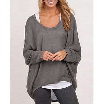 Agnes Over-sized Dolman Sleeve Sweater Top