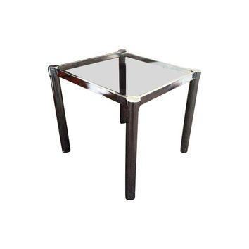 Pre-owned Milo Baughman Styled Chrome Side Table