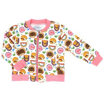 Unisex Baby Girl or Boy Long Sleeve Zip Up Bomber Jacket Sweater | Made to Order