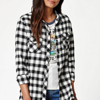 Volcom Cozy Day Plaid Flannel Button-Down Shirt at PacSun.com