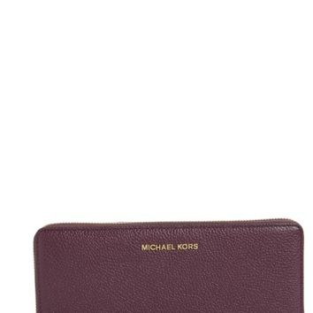 MICHAEL Michael Kors 'Mercer' Leather Continental Wallet | Nordstrom