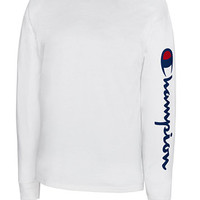 Champion Men's Jersey Script Long-Sleeve T-Shirt | macys.com