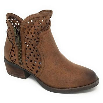DCCKAB3 Not Rated Etta Tan Cut-Out Ankle Booties