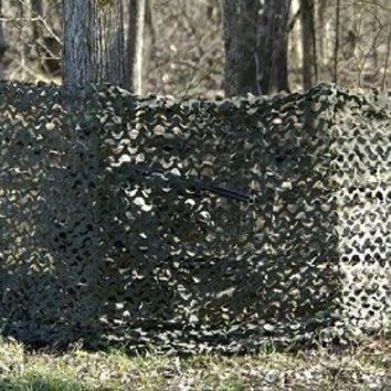 Camo Unlimited Quick Set Ground Blind, Green/Brown