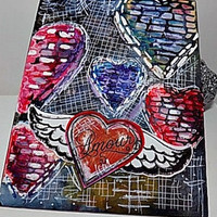 Amour Mixed Media Canvas Board. Ready to Ship