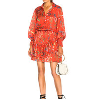 Alexis Rianna Dress in Botanical Red | FWRD