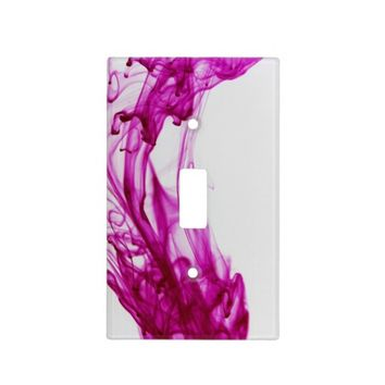 Pink Ink Drop Photography Light Switch Cover