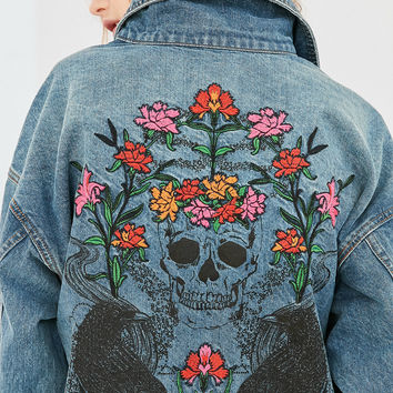 BDG Floral Embroidered Relaxed Denim Jacket | Urban Outfitters