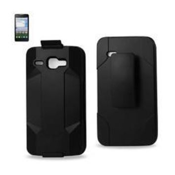 REIKO ALCATEL ONE TOUCH SONIC LTE HYBRID HEAVY DUTY HOLSTER COMBO CASE IN BLACK