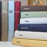 1500 Thread Count Egyptian Cotton Solid Split King Sheet Set Color: Black