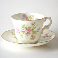 Vintage Royal Buxton Tea Cup and Saucer English Bone China Floral Dem