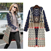 Winter Women Long Sweater Loose Batwing Sleeve Knit Cardigan Jacket Coat Hot New F_F (Color: Multicolor) = 1902040708