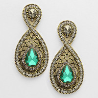Mckensie Evening Earrings Filigree Emerald