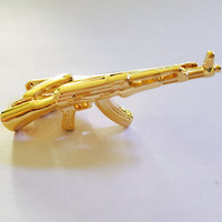 Gold Silver Glasses/gun/pipe Tie Clips for Men Glasses Commercial Necktie Bar Clips Pin High Quality