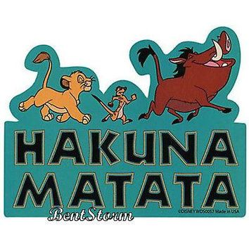 "Licensed cool NEW Disney Lion King Hakuna Matata Diecut Vinyl Wall STICKER 3 1/2"" h x 4 1/2"" w"