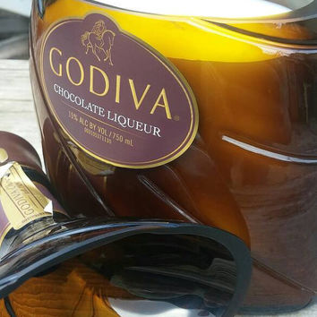 Godiva Chocolate Liquor - Recycled Bottle Candle
