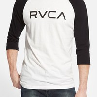 Men's RVCA 'Big RVCA' Graphic Baseball T-Shirt,