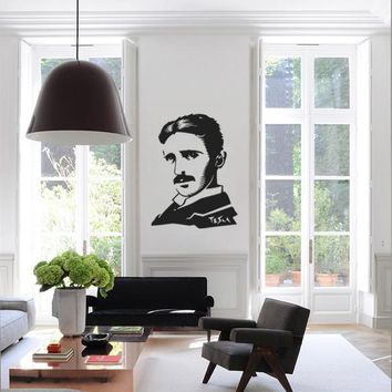 ik1018 Wall Decal Sticker Serbian physicist Nikola Tesla room bedroom Energy