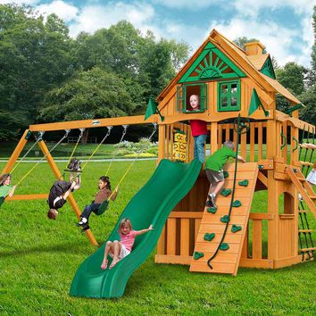 Gorilla Playsets Chateau Clubhouse From Nj Swingsets Backyard