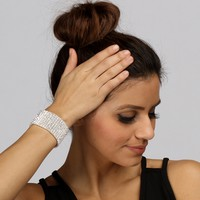 Wrapped In Diamonds 10 Row Stretch Bracelet