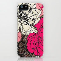 Vera Bradley - Pink and Brown Floral iPhone & iPod Case by PinkBerryPatterns