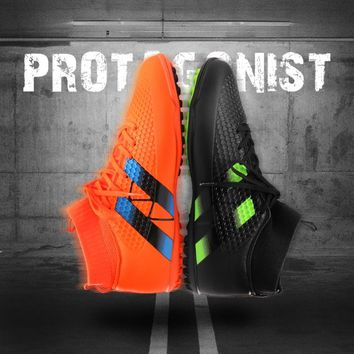 New Men Football Boots Futsal TF High Ankle Soccer Shoes Hard wearing Adult Professional Indoor Sock Cleats Sports Trainer