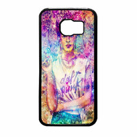 Frida Kahlo Flower Paintings On Galaxy Nebula Samsung Galaxy S6 Case
