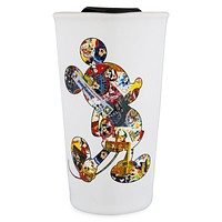 Disney Parks Mickey Mouse Through the Years Ceramic Travel Mug New