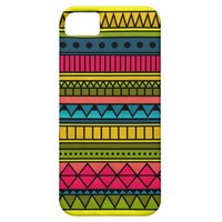 Colorful Cute Girly Cool Tribal Geometric Pattern iPhone 5 Cover