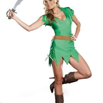 Pretty Pan FairyTale Dress Costume (Large,As Shown)